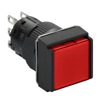施耐德XB6ECF4B1F方形自锁定带灯按钮