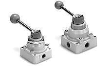 SMC全气控系统元件指形手动阀 VH