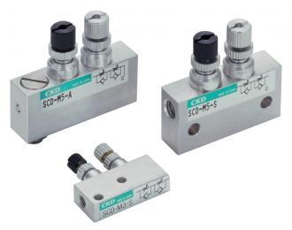 原装CKD进排气调速阀SCD,销售CKD速度控制阀